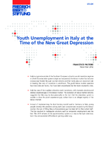 Youth unemployment in Italy at the time of the new great depression
