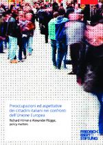 Preoccupazioni ed aspettative dei cittadini italiani nei confronti dell'Unione Europea